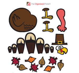 FREE Paper Plate Turkey Stickers
