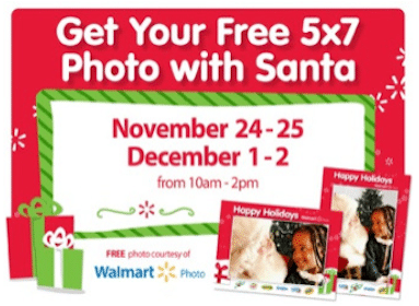 Photo With Santa at Walmart (12/1-12/2)