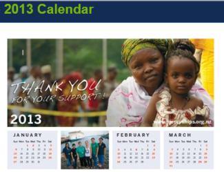 2013 Mercy Ships Calendar