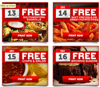 Chili's Coupons: Southwestern Egg Rolls, Sweet Potato Fries, Chips & Salsa, + MORE!