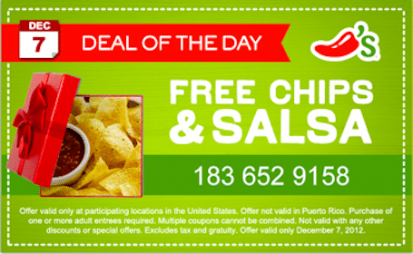 Chips & Salsa at Chili's (Today, 12/7 Only)