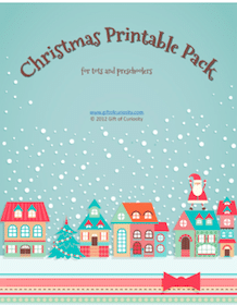 Christmas Printable Pack for Tots and Preschoolers