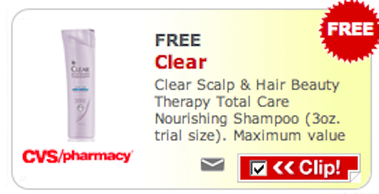 3oz. Trial Size Clear Scalp & Hair Beauty Therapy Total Care Nourishing Shampoo at CVS