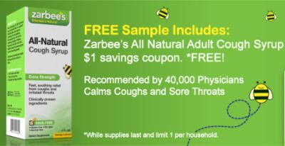 ZarBee's All Natural Cough Syrup Sample [Facebook]