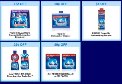 Finish Dishwashing Detergent Coupons