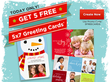 (5) 5×7 Photo Greeting Cards Shipped to Store at Rite Aid TODAY Only ($9.95 Value!)