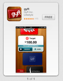 Gyft App: $5 Sephora Gift Cards + $5 GAP Gift Card (Valid In Store)