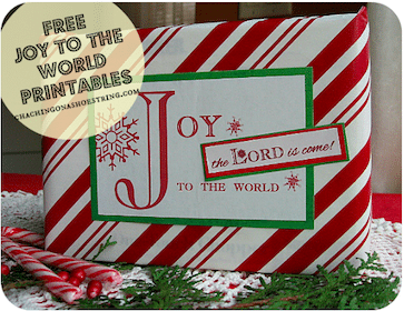 Joy To The World Gift Wrap Printables