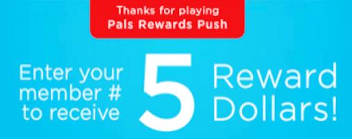 5 Petco Pals Reward Dollars