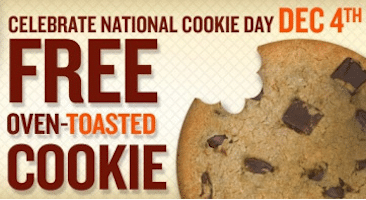 Oven Toasted Cookie at Quiznos on 12/4