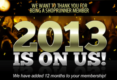 *HOT* One Year ShopRunner Membership for Existing Members (Check Your Inbox!)