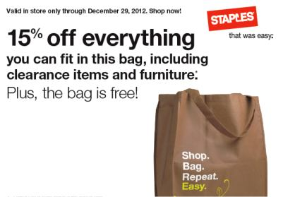 Tote Bag from Staples [in store]