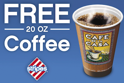 20 oz Coffee at Stripes Stores (NM, OK, TX)
