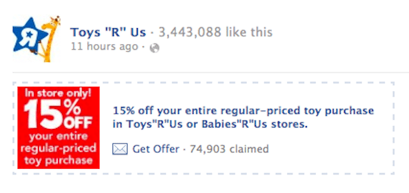15% Off Entire Toys R Us Purchase (Coupon)