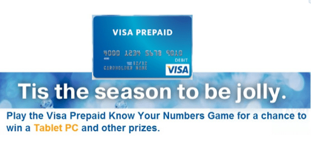 Win Visa Gift Cards + More in the Visa Prepaid Know Your Numbers Sweepstakes