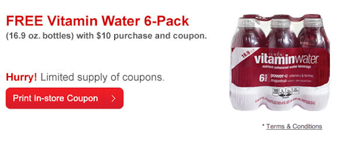 Vitamin Water 6-Pack with $10 Purchase at CVS