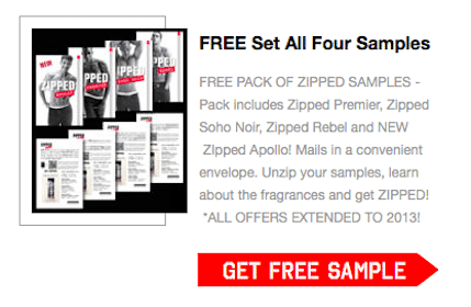 Pack of 4 Zipped Fragrance Samples