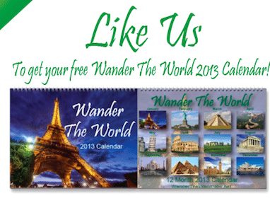 Wander the World 2013 Calendar