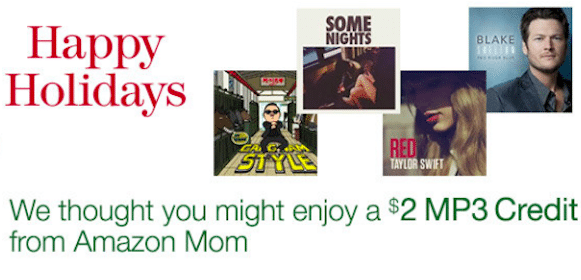 $2 MP3 Credit for Amazon Mom Members (Check Your Inbox!)
