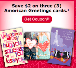 Save $2/3 American Greetings Cards CVS Store Coupon