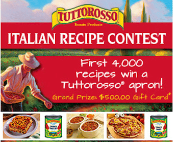 Tuttorosso Apron with Recipe & Photo Submission
