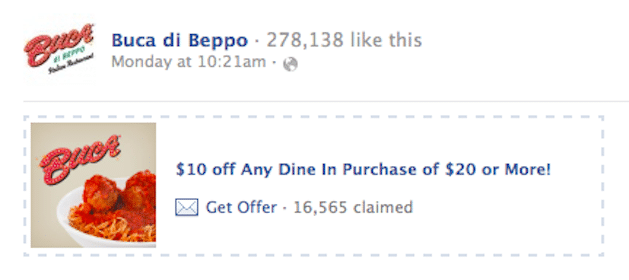 Buca di Beppo Coupon: Save $10 off $20 Purchase