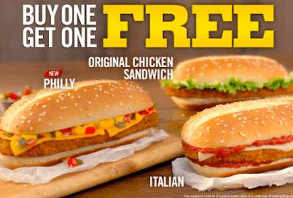 Burger King Coupons: BOGO Free Chicken Sandwich