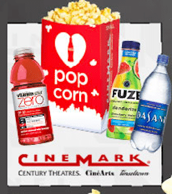 Small Popcorn with Purchase of Bottled Water, Fuze, or Vitaminwater at Cinemark