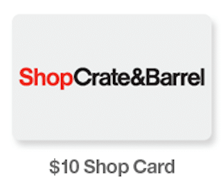 $10 Crate and Barrel Gift Card with Registry