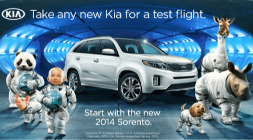 $25 Gift Card for Test Driving a 2014 Kia Sorento (1st 10,000!)
