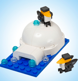 Lego Igloo and Penguins Mini Model Build at Lego Stores on Tuesday