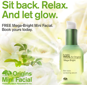 Mega-Bright Mini Facials at Origins