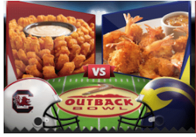 Appetizer at Outback Steakhouse after the Outback Bowl