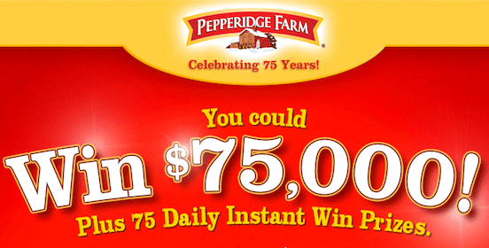 Win Product Coupons, Grocery Gift Cards + More in the Pepperidge Farm Instant Win Game