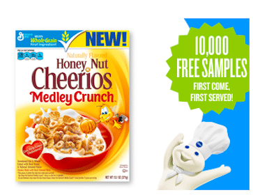 Honey Nut Cheerios with Medley Crunch Cereal Sample (Pillsbury Members)