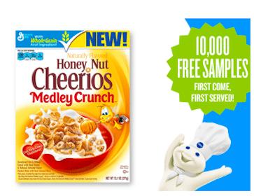 Honey Nut Cheerios with Medley Crunch Cereal Sample (Pillsbury Members)