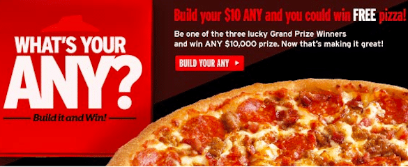 Enter to Win a $10 Pizza Hut Pizza + More (Over 2,400 Winners!)