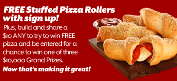 Pizza Rollers from Pizza Hut