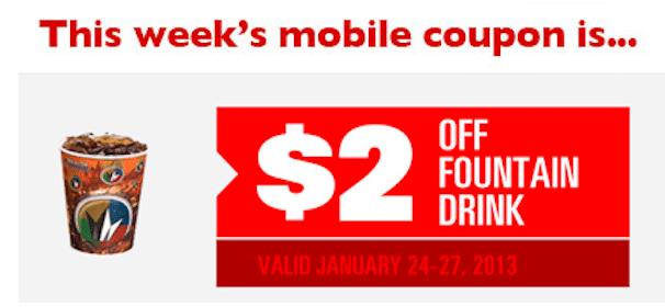 Regal Cinemas Mobile Coupon: Save $2 Off Fountain Drink