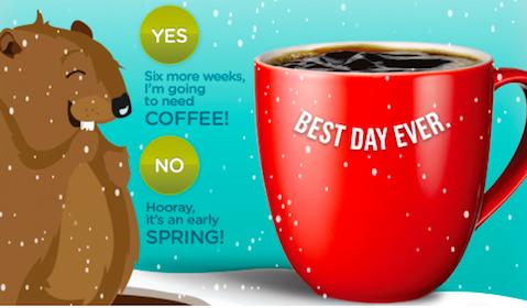 Sample of Seattle's Best Coffee on Groundhog Day (10,000 Random Winners)
