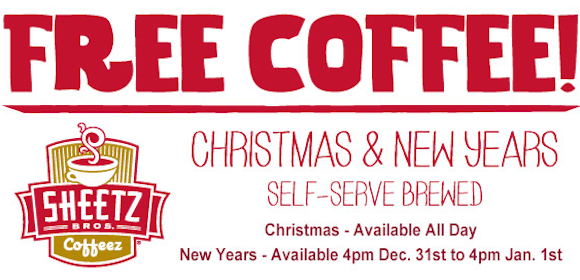 Coffee at Sheetz Stores on New Years