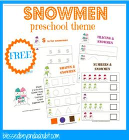Snowmen Preschool Printable Pack