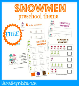 Snowmen Preschool Printable Pack