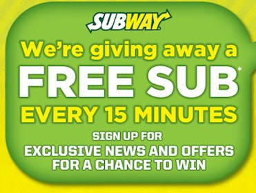 Subway Text to Win (96 Daily Winners!)