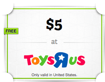 $5 ToysRUs Gift Card from the Wrapp App (In-Store)