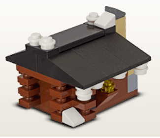 Lego Log Cabin Mini Model at the LEGO Store Today