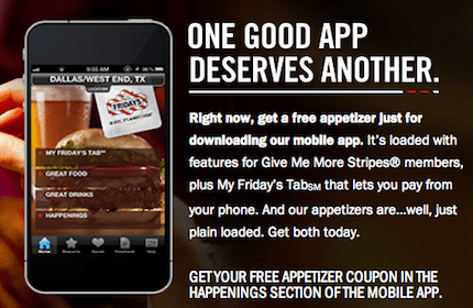 Appetizer at T G I  Friday's - Yo! Free Samples