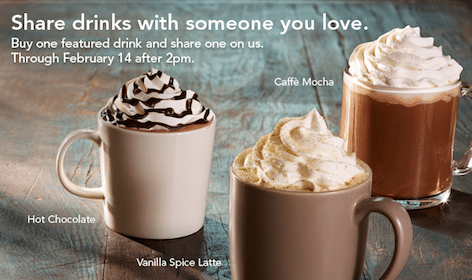 Starbucks Printable Coupon: B1G1 Free Latte, Mocha or Hot Chocolate