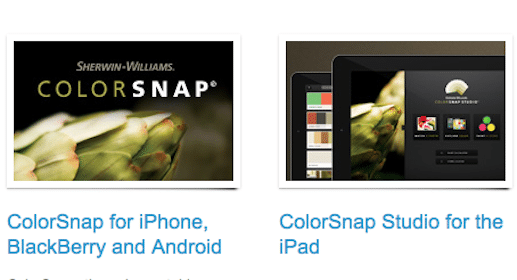 Sherwin Williams ColorSnap Color-Matching App for Smartphones