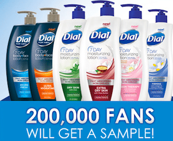 WIN Dial 7 Day Moisturizing Lotion Sample (60,000 Winners!)